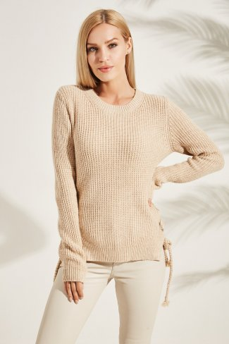 JUMPER WITH LACE UP SIDES